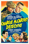 "Movie Posters:Comedy, Charlie McCarthy, Detective (Universal, 1939). One Sheet (27"" X41"") Style A.. ..."
