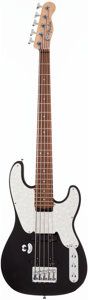 Musical Instruments:Bass Guitars, 2000's Fender Telecaster Bass Copy Black Electric Bass Guitar, #N/A....