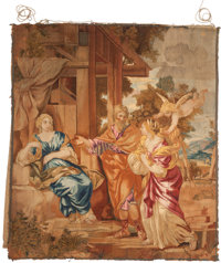 A CONTINENTAL WALL TAPESTRY, 19th century 80 inches high x 70 inches wide (203.2 x 177.8 cm)
