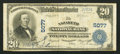 National Bank Notes:Pennsylvania, Nazareth, PA - $20 1902 Plain Back Fr. 658 The Nazareth NB Ch. #5077. ...