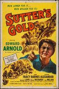 "Movie Posters:Western, Sutter's Gold (Eagle Lion Films, R-1948). One Sheet (27"" X 41""). Western.. ..."