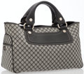 Luxury Accessories:Bags, Celine Black Leather & Monogram Canvas Boogie Bag. ...