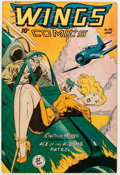 Golden Age (1938-1955):War, Wings Comics #94 (Fiction House, 1948) Condition: VF+....