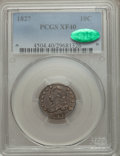 Bust Dimes: , 1827 10C XF40 PCGS. CAC. PCGS Population (31/238). NGC Census:(11/244). Mintage: 1,300,000. Numismedia Wsl. Price for prob...