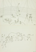 Books:Art & Architecture, [Alexander Calder]. Calder's Circus. [1964]. Featuring sixteen prints of masterful circus drawings, housed in a clot...