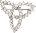 Estate Jewelry:Brooches - Pins, Tiffany & Co. Diamond, Platinum Brooch. ...