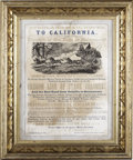 Miscellaneous:Brochures, A RARE 'OVERLAND MAIL ROUTE' STAGECOACH LINE BROADSIDE BY W. D.CARTER, PORTLAND, OREGON 1866. - This outstanding Overland ...(Total: 1 Item)