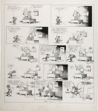 George Herriman - Krazy Kat Saturday Comic Strip Original Art, dated 6-4-1921 (King Features Syndicate, 1921)