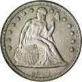 Seated Dollars: , 1854 $1 XF45 PCGS. Light rub on each side determines the grade onthis Choice XF piece, with ...