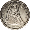 Seated Dollars: , 1854 $1 --Cleaned--ANACS. AU50 Details. David Bowers (1993) writesthat circulated 1854 dollar...