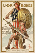 "Movie Posters:War, World War I Propaganda Poster (U.S. Government Printing Office,1917). Third Liberty Loan Full-Bleed Poster (20"" X 30"") ""Wea..."