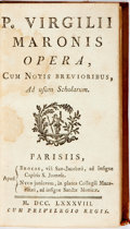 Books:Literature Pre-1900, [Publius Virgilius Maro]. Opera. Paris, 1788. Text in Latin.Twelvemo. Mid-18th century full calf ruled in gilt. Hin...