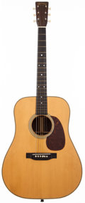 Musical Instruments:Acoustic Guitars, 1945 Martin D-28 Natural Acoustic Guitar, # 91965. ...