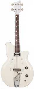 Musical Instruments:Bass Guitars, 1964 National Valpro 85 White Electric Bass Guitar, #1-17201....