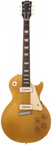 Musical Instruments:Electric Guitars, 1954 Gibson Les Paul Standard Gold Top Solid Body Electric Guitar,#4 3503....