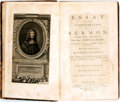 Books:Religion & Theology, John Claude. An Essay on the Composition of a Sermon. London: W. Lepard, et al., 1782. Second edition. Complete in t... (Total: 2 Items)