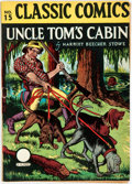 Books:Literature 1900-up, Harriet Beecher Stowe. Uncle Tom's Cabin. Contained in anissue of Classic Comics, no. 15. New York: Gilberton Corpo...