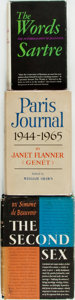 Books:Biography & Memoir, Jean-Paul Sartre. The Words. [together with:] Janet Flanner(Genet). Paris Journal 1944-1965. [and:]... (Total: 3 Items)