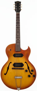 Musical Instruments:Electric Guitars, 1964 Gibson ES-125TDC Sunburst Semi-Hollow Body Electric Guitar,#106405....