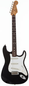Musical Instruments:Electric Guitars, 1997 Fender California Stratocaster Black Solid Body ElectricGuitar, #AMXN703820....