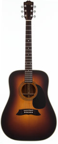 Musical Instruments:Acoustic Guitars, 1980's Takamine F-360 Sunburst Acoustic Guitar, #80020530....