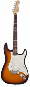 Musical Instruments:Electric Guitars, 2007 Fender Stratocaster Plus U.S.A. Sunburst Solid Body ElectricGuitar, #Z7066954....