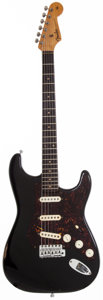 Musical Instruments:Electric Guitars, Ed King's 1959 Fender Stratocaster Black Solid Body ElectricGuitar, #36806....