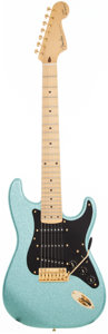 Musical Instruments:Electric Guitars, 2010 Fender Maestro Alex Gregory Signature Stratocaster Ice BlueSparkle 7-String Solid Body Electric Guitar, #N/A....