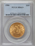 Liberty Eagles, 1906 $10 MS63+ PCGS. PCGS Population (145/43). NGC Census: (89/31).Mintage: 165,497. Numismedia Wsl. Price for problem fre...