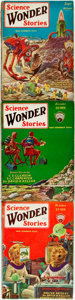 Books:Science Fiction & Fantasy, [Pulps]. Three Issues of Science Wonder Stories. Volumes 4, 5 and 7 of this pulp magazine. Original printed wrappers... (Total: 3 Items)