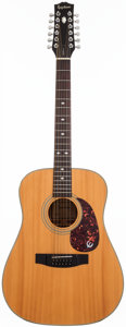 Musical Instruments:Acoustic Guitars, 1970's Epiphone PR-350 Natural 12-String Acoustic Guitar,#0023976....