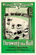"Movie Posters:Animation, Throwing the Bull (Educational, 1918). One Sheet (28"" X 42.75"").Animation.. ..."