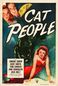 "Movie Posters:Horror, Cat People (RKO, R-1952). One Sheet (27.5"" X 41"").. ..."