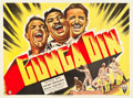 "Movie Posters:Action, Gunga Din (RKO, 1939). British Quad (30"" X 40"").. ..."