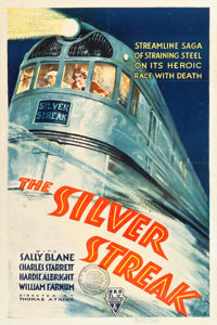 "The Silver Streak (RKO, 1934). One Sheet (27.25"" X 40.75"")"