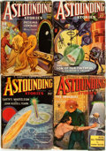 Books:Science Fiction & Fantasy, [Pulps]. Four Issues of Astounding Stories. 1935. Originalprinted wrappers. Toned, with edgewear. Very good. . ... (Total: 4Items)
