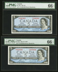 Canadian Currency: , BC-39c $5 1954 Two Examples. ... (Total: 2 notes)