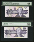 Canadian Currency: , BC-57bA $10 1989 Replacement. BC-57c $10 1989. ... (Total: 2 notes)