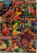 Books:Science Fiction & Fantasy, [Pulps]. Eleven Issues of Strange Stories. 1939-1941.Origins printed wrappers. Toned and edgeworn. Very good. . ...(Total: 11 Items)