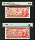 Canadian Currency: , BC-51a $50 1975. BC-51a-i $50 1975. ... (Total: 2 notes)
