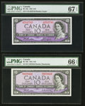 Canadian Currency: , BC-40a $10 1954. BC-40b $10 1954. ... (Total: 2 notes)