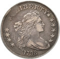 Early Dollars, 1798 $1 Large Eagle, Pointed 9, Four Berries, B-8, BB-125, R.2,VF30 PCGS....