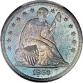 Seated Dollars, 1860-O $1 MS62 PCGS. CAC....