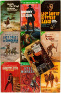 Books:Americana & American History, [Westerns]. Group of Ten Western Ace Double Paperbacks. New York:Ace Publishing, [various dates]. Original printed wrappers...(Total: 10 Items)