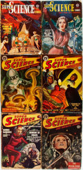Books:Science Fiction & Fantasy, [Pulps]. Six Issues of Super Science Stories. 1949-1951. Original printed wrappers. Toned, with some edgewear. Very ... (Total: 6 Items)