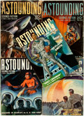Books:Science Fiction & Fantasy, [Pulps]. Five Issues of Astounding Science Fiction. 1939. Original printed wrappers. Mild edgewear. Very good. . ... (Total: 5 Items)