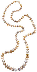 Estate Jewelry:Pearls, Freshwater Cultured Pearl, Gold-Filled Necklace. ...
