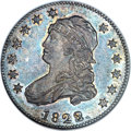 Bust Quarters, 1823/2 25C B-1, High R.5, MS61 NGC. CAC....