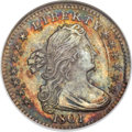 Early Half Dimes, 1801 H10C V-1 and V-2, LM-2, R.4. MS67 NGC....