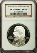 Modern Issues, 2005-P $1 Marshall PR70 Ultra Cameo NGC. NGC Census: (885). PCGS Population (275). Numismedia Wsl. Price for problem free ...